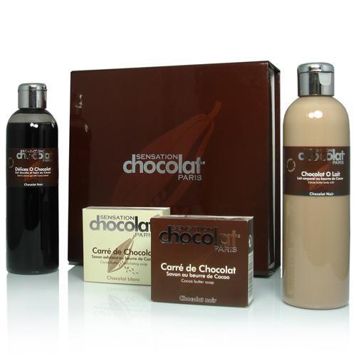 Coffret de produits de beauté au chocolat