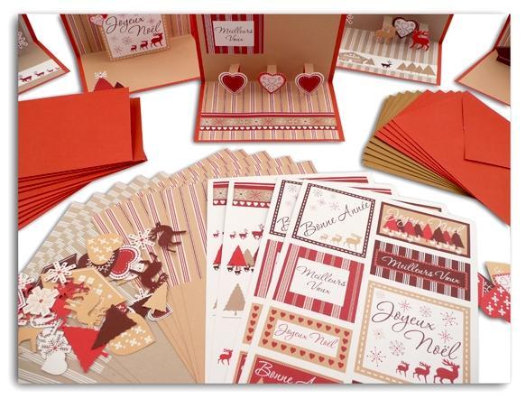 Réaliser ses cartes de voeux pour Noel 2009 : un kit de